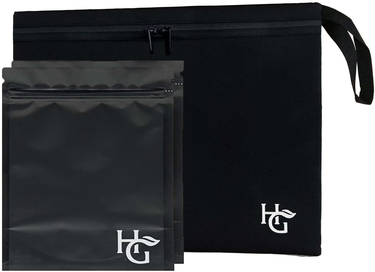 Large Discreet Smell Proof Bag (12x10 inches, Holds 3 Ounces) - Comes with 2 Large Resealable Bags to Store Dried Foods, Herbs and Consumable Goods