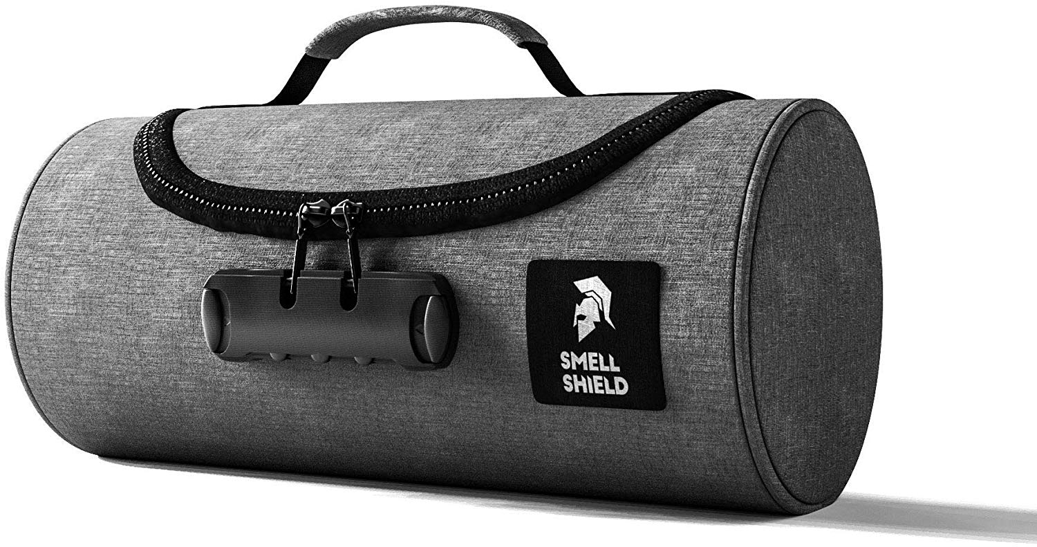 Smell Proof Bag with Lock - Travel Storage for Bags Containers Keeps Stash Smellproof & Safe (Grey)